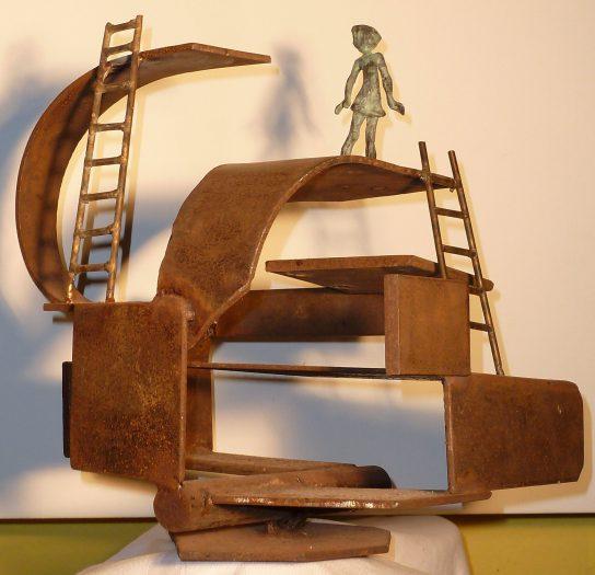 La casa de hierro, 2012 / / Bronce y Hierro / Ana Luisa Benítez y Manuel Cyphelly