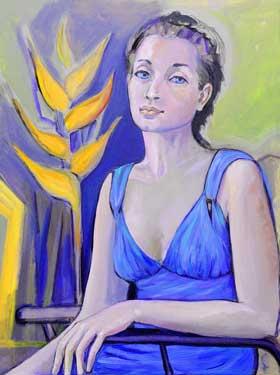 Isabel, 2008 / Acrílico sobre lienzo, 81 x 100 cm.