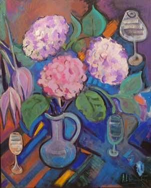 Flores del mundo, 2005 / Acrílico sobre lienzo, 81 x 100 cm.