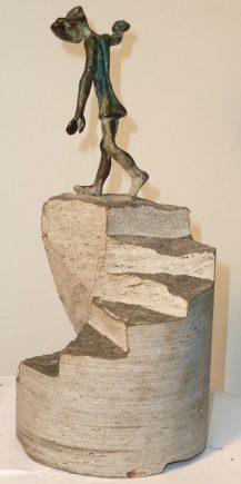 Equilibrio, 2012 / 20 x 11 x 45 cm / Bronce y Basalto / Ana Luisa Benítez y Manuel Cyphelly