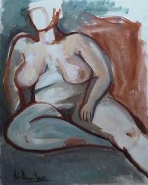 Descarada I, 1989 / Acrílico sobre lienzo, 76 x 64 cm.