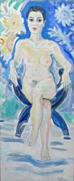 La venus de los girasoles, 2008 / Acrílico sobre lienzo, 70 x 170 cm.