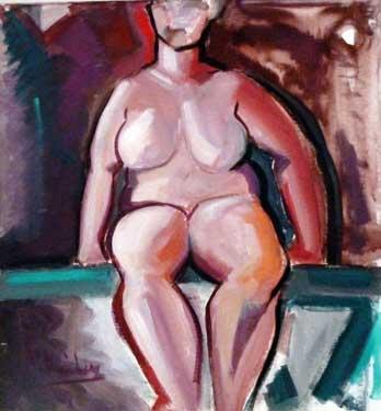 Descarada III, 1989 / Acrílico sobre lienzo, 76 x 64 cm.