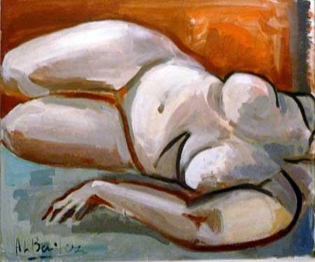 Descarada IV, 1989 / Acrílico sobre lienzo, 76 x 64 cm.