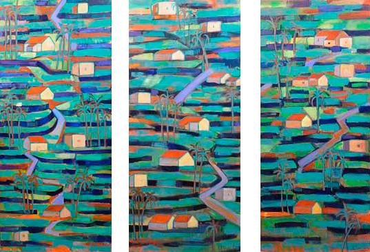 Gomera, 2002 / Acrílico sobre lienzo, 80 x 180 cm.