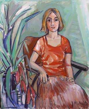 Jovencita, 1995 / Acrílico sobre lienzo, 81 x 100 cm.