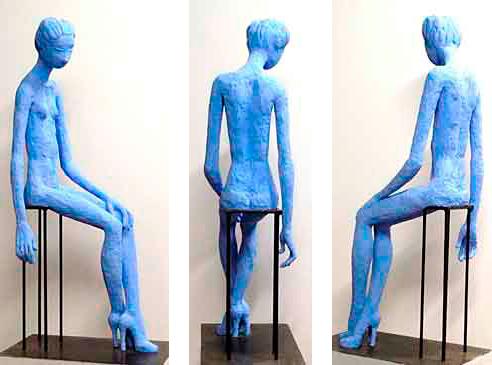 Ser, 112 cm / 2011 / Cemento especial pintado con pigmento azul